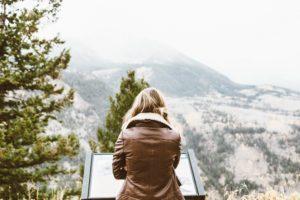 girl mountains