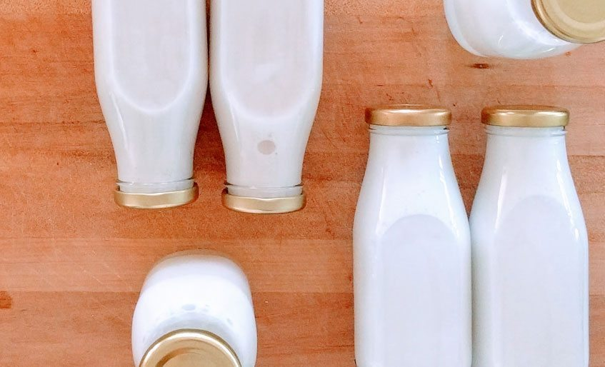 coconut milk bottles