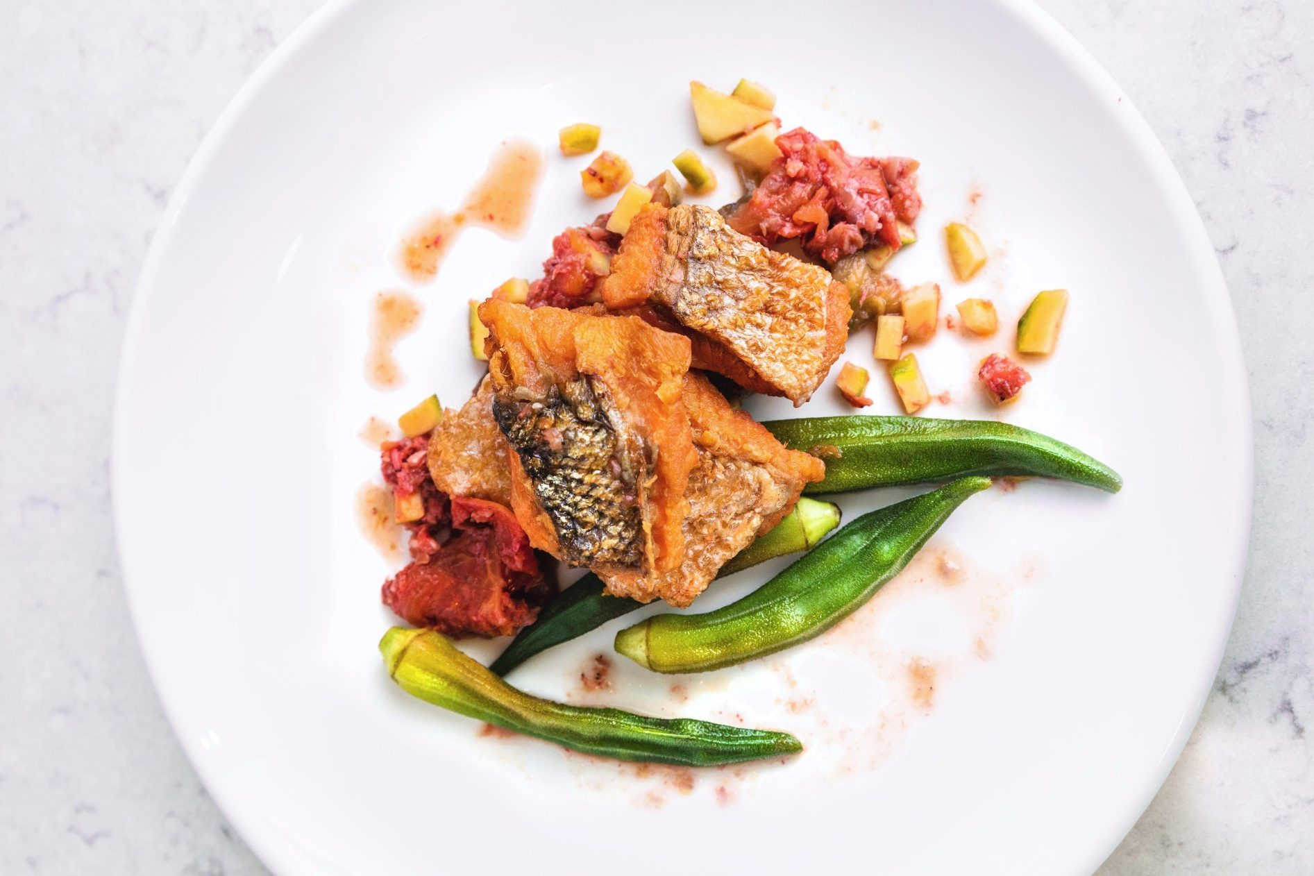 salmon and vegetables
